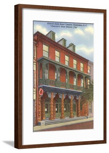 Dock Street Theatre, Charleston, South Carolina--Framed Art Print
