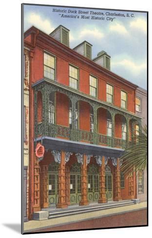 Dock Street Theatre, Charleston, South Carolina--Mounted Art Print