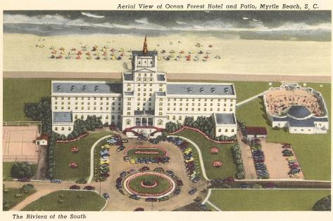 Ocean Forest Hotel, Myrtle Beach, South Carolina--Stretched Canvas Print