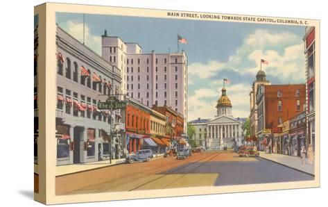 Main Street, Columbia, South Carolina--Stretched Canvas Print