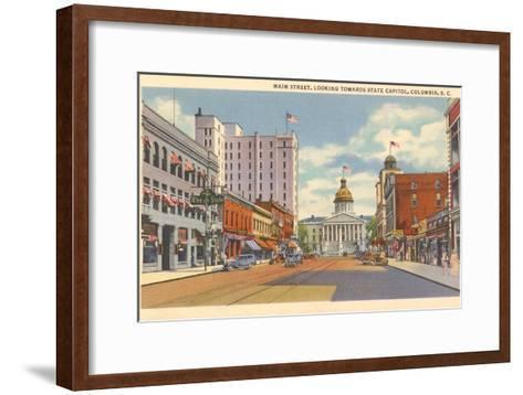 Main Street, Columbia, South Carolina--Framed Art Print
