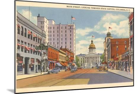 Main Street, Columbia, South Carolina--Mounted Art Print