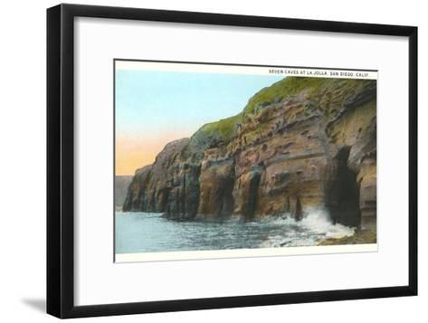 Seven Caves, La Jolla, California--Framed Art Print