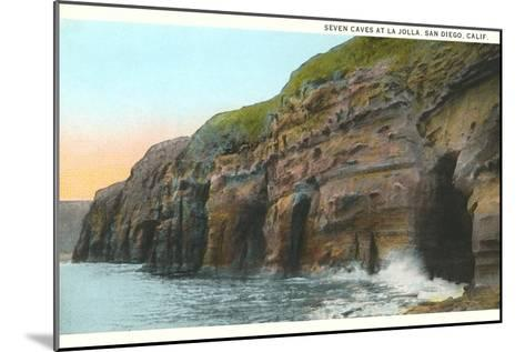 Seven Caves, La Jolla, California--Mounted Art Print