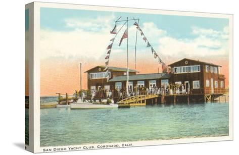 Yacht Club, Coronado, San Diego, California--Stretched Canvas Print