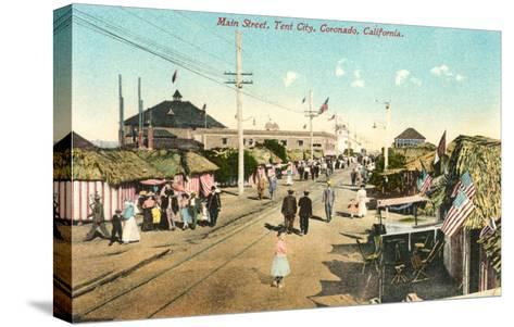 Main Street, Tent City, Coronado, California--Stretched Canvas Print
