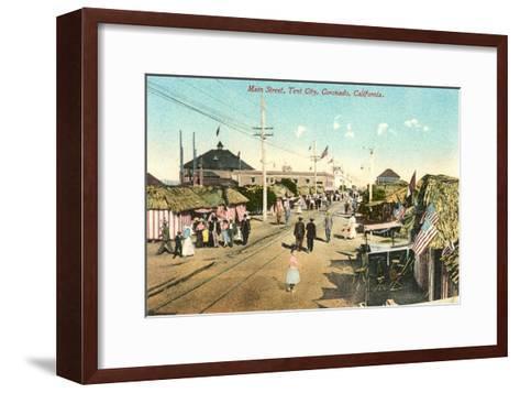 Main Street, Tent City, Coronado, California--Framed Art Print