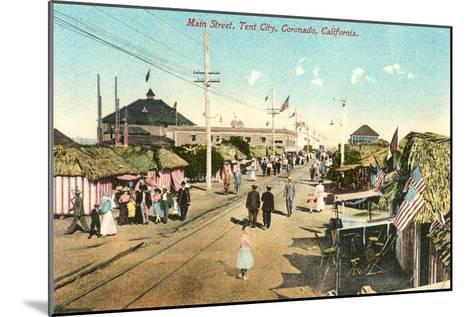 Main Street, Tent City, Coronado, California--Mounted Art Print