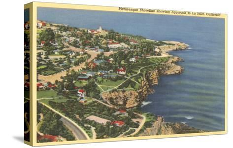 Picturesque Shoreline, La Jolla, California--Stretched Canvas Print