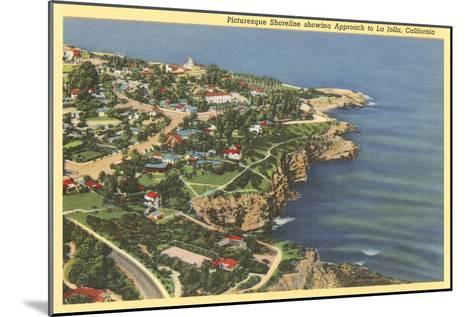 Picturesque Shoreline, La Jolla, California--Mounted Art Print