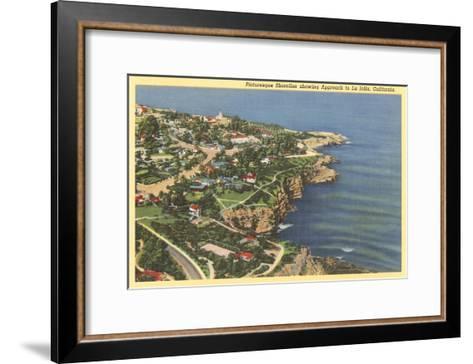 Picturesque Shoreline, La Jolla, California--Framed Art Print