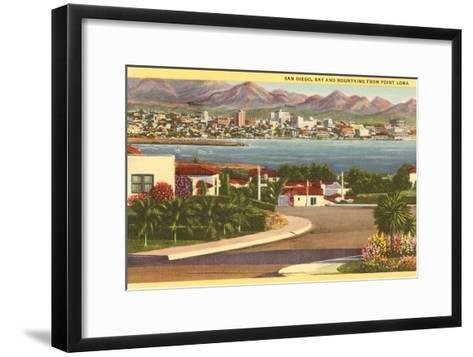 Point Loma Looking Towards San Diego, California--Framed Art Print