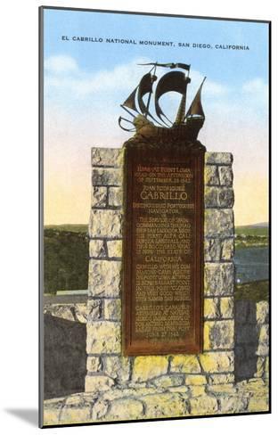 Cabrillo National Monument, San Diego, California--Mounted Art Print