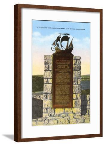 Cabrillo National Monument, San Diego, California--Framed Art Print