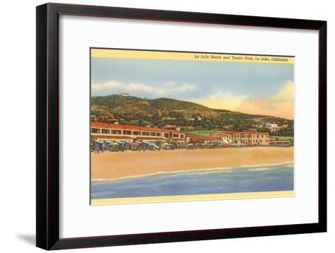La Jolla Beach and Tennis Club, La Jolla, California--Framed Art Print