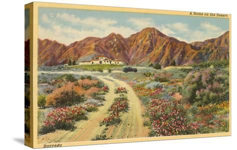 Home in the Desert, San Diego County, California--Stretched Canvas Print