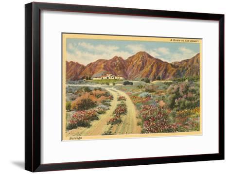 Home in the Desert, San Diego County, California--Framed Art Print