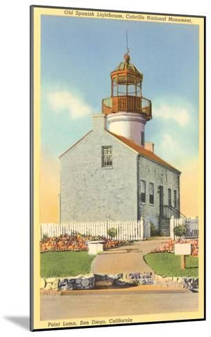 Cabrillo Lighthouse, Point Loma, San Diego, California--Mounted Art Print