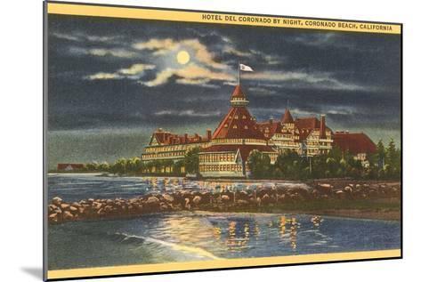 Moon over Hotel del Coronado, San Diego, California--Mounted Art Print