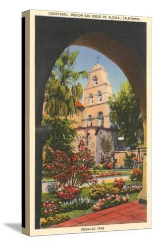 Grounds, Old Mission de Alcala, San Diego, California--Stretched Canvas Print