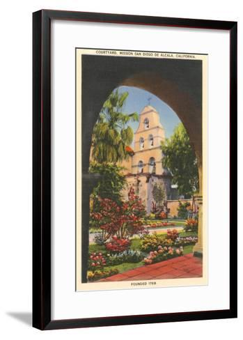 Grounds, Old Mission de Alcala, San Diego, California--Framed Art Print