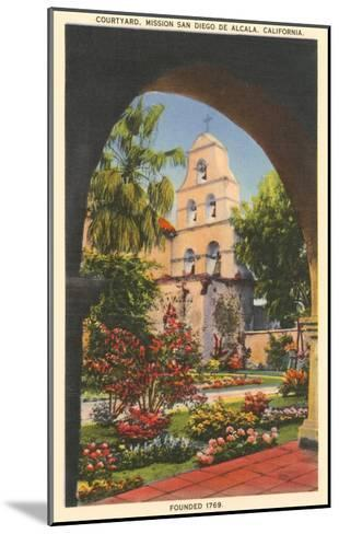 Grounds, Old Mission de Alcala, San Diego, California--Mounted Art Print