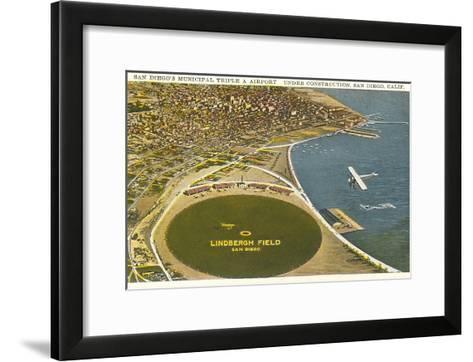 Lindbergh Field Airport, San Diego, California--Framed Art Print
