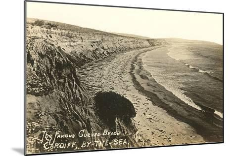 Curved Beach, Cardiff by the Sea, California--Mounted Art Print