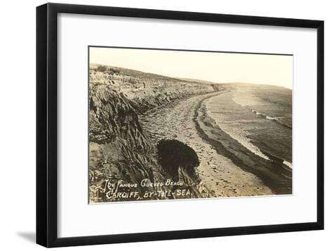 Curved Beach, Cardiff by the Sea, California--Framed Art Print