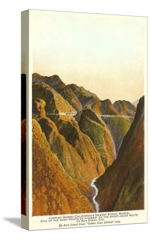 Carrizo Gorge, San Diego County, California--Stretched Canvas Print