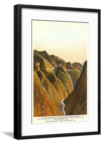 Carrizo Gorge, San Diego County, California--Framed Art Print