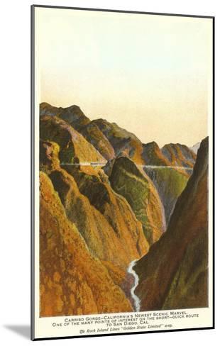 Carrizo Gorge, San Diego County, California--Mounted Art Print