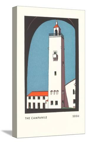 Campanile at SDSU Graphic, San Diego, California--Stretched Canvas Print