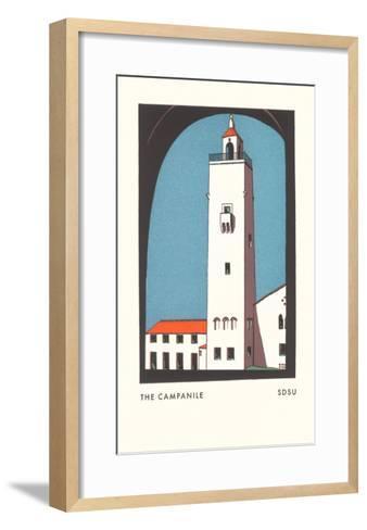 Campanile at SDSU Graphic, San Diego, California--Framed Art Print