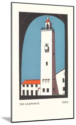 Campanile at SDSU Graphic, San Diego, California--Mounted Art Print