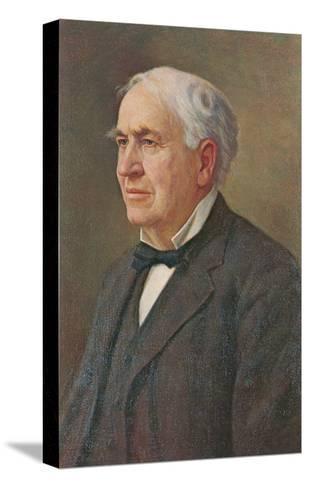 Portrait of Thomas Edison--Stretched Canvas Print