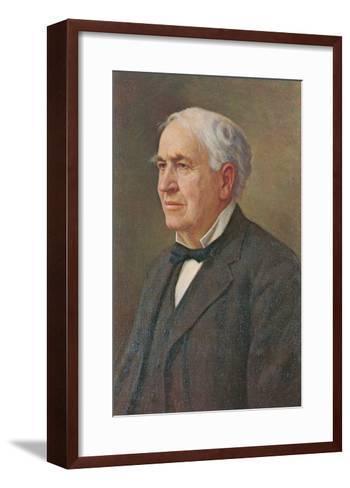 Portrait of Thomas Edison--Framed Art Print