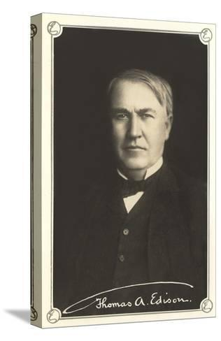 Photograph of Thomas Edison--Stretched Canvas Print
