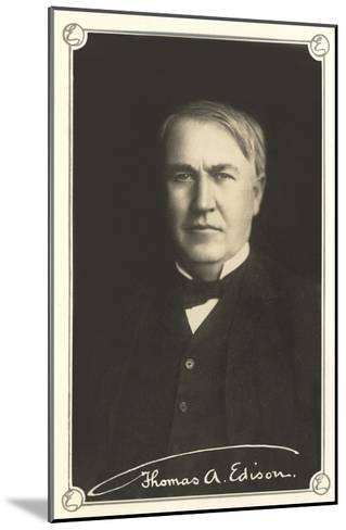Photograph of Thomas Edison--Mounted Art Print