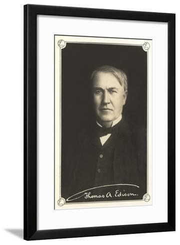 Photograph of Thomas Edison--Framed Art Print