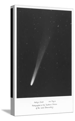 Halley's Comet Photograph--Stretched Canvas Print