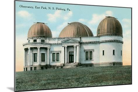 East Park Observatory, Pittsburg, Pennsylvania--Mounted Art Print
