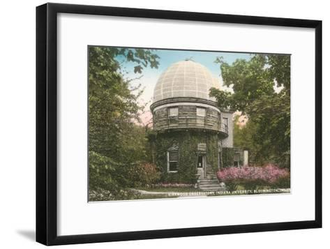 Kirkwood Observatory, Indiana University--Framed Art Print