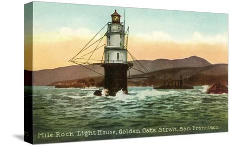 Mile Rock Lighthouse, San Francisco, California--Stretched Canvas Print
