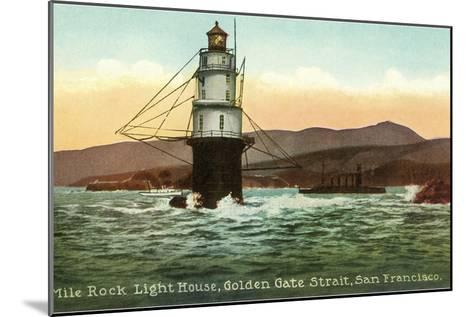 Mile Rock Lighthouse, San Francisco, California--Mounted Art Print