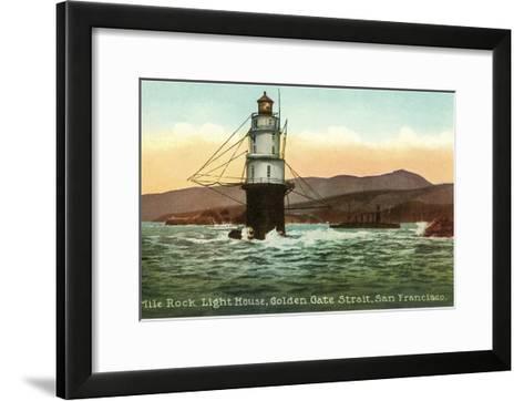 Mile Rock Lighthouse, San Francisco, California--Framed Art Print