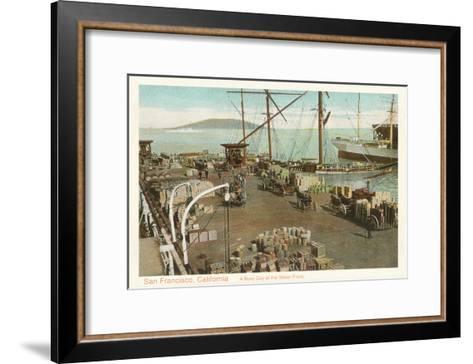 Waterfront Scene, San Francisco, California--Framed Art Print