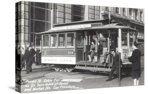 Powell Street Cable Car, San Francisco, California--Stretched Canvas Print