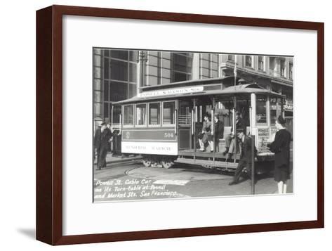 Powell Street Cable Car, San Francisco, California--Framed Art Print