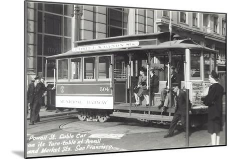 Powell Street Cable Car, San Francisco, California--Mounted Art Print